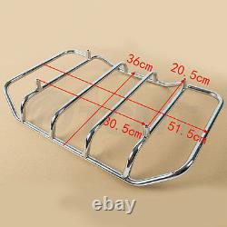 King Pack Trunk With Rack Backrest For Harley Tour Pak Touring Street Glide 14-20