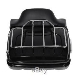 King Tour Pak Pack Trunk Backrest Rack LED Light Speakers For Harley Touring 14+