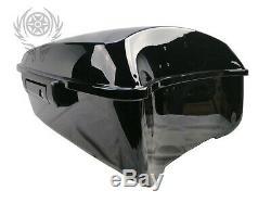King Tour Pak Pack Trunk black For Harley Touring Street Road Glide 14-19