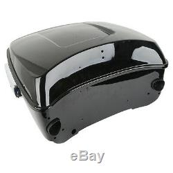 King Tour Pak Pack Trunk with 6.5 Speaker Pods For Harley Touring Road King 14-19