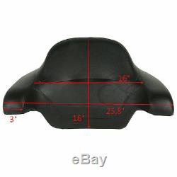 King Tour Pak Pack Trunk with Backrest Pad For Harley Davidson Touring 2014-2019