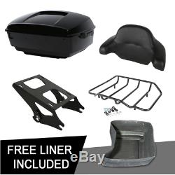 King Trunk Mount Rack For Harley Touring Tour Pak Pack Road Glide 2014-2020 2019