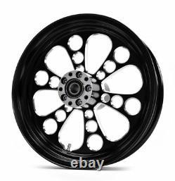 Kool Kat Black Billet Aluminum 16 3.5 Rear Wheel Rim Harley Touring Softail