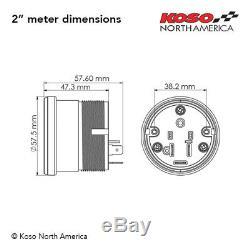 Koso BA050907, Digital Gauge Cluster, Black Bezel for Harley Touring 2004-2013