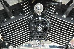 LeNale Engine Cooling Fan Black 14-16 FLH Touring Harley New Design