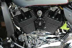 LeNale Engine Cooling Fan Black 93 08 Touring Harley Davidson New Design