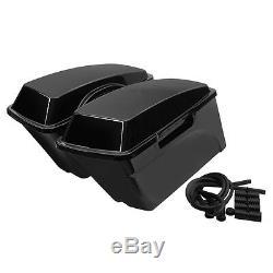 Left Right Vivid Black ABS Saddle Bags Saddlebags Fit For Harley Touring Models