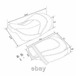 Low-Profile Seat Set Fit For Harley Touring Road Glide special 2015-2020 racing