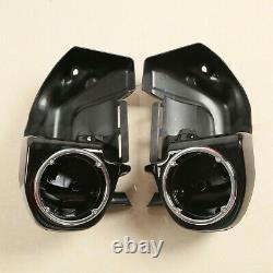 Lower Vented Fairing 6.5 Speaker Box Pod For Harley Touring 83-13 Painted Black