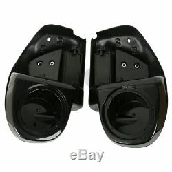 Lower Vented Fairing + 6.5 Speaker Box Pod For Harley Touring Glide FL 14-19 16