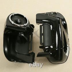 Lower Vented Leg Fairings Box Pods & 6.5 Speakers For Harley Touring 1983-2013