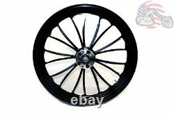 Manhattan Black Billet Front Wheel Rim 21 x 3.5 Harley Touring Dual Disc 00-07