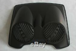 Matt/denim black Bagger Dual 8 Speaker Lid with Razor Tour Pak for 97-13 Harley