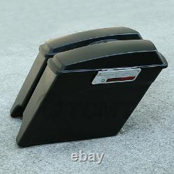 Matte 5 Stretched Extended Hard Saddle Bags For Harley Touring Road Glide King