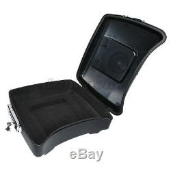 Matte Chopped Tour Pak Pack Trunk With Latch For Harley Touring Road King 2014-Up