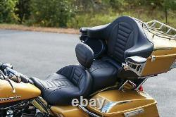 Mustang One-Piece Deluxe Touring 2-Up Seat 08-20 Harley Touring FLHX FLHT 79006
