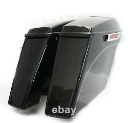 Mutazu 4.5 No cut Out Extended Stretched Saddlebags for 14-up Harley Touring