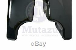 Mutazu 4 Black Fits Harley Stretched Extended bags Touring Hard Saddlebags