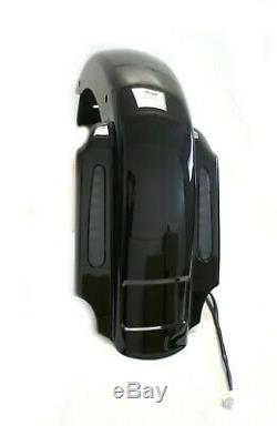 Mutazu CVO 4 Extended Rear Fender with LED + Saddlebags for 93-08 Harley Touring