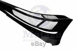 Mutazu Custom Black Chin Spoiler Scoop Fits Harley Touring Bagger FLH FLT FLTR