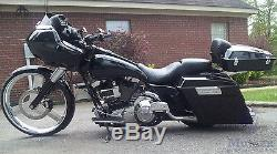 Mutazu Custom Black Extended Stretched Side Covers For Harley Touring Models