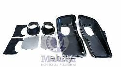 Mutazu Matte Black 6x 9 Speaker Lids for 2014 2015 Harley Touring Models FLH FLT
