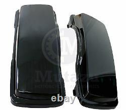 Mutazu Saddlebag Replacement Lids in Vivid Black for Harley Touring 94-2013