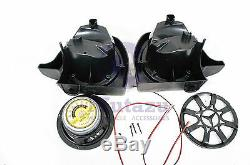 Mutazu Vivid Black 6.5 Speaker Pods Lower Vented Fairings for Harley Touring
