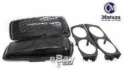 Mutazu Vivid Black Dual 6x9 Speaker Lids for 2014-UP Harley Touring Models