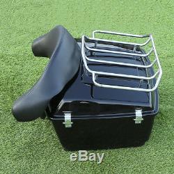 NEW King Tour pack trunk+Backrest For Harley Davidson Street Road Glide 09-13