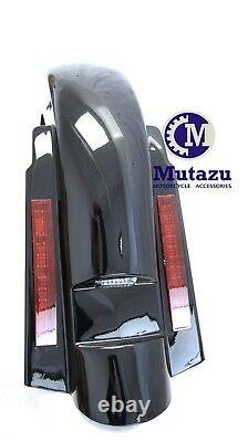 No Cut out 6 LED Rear Fender Stretched Extended for Harley Touring 97-08