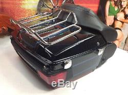 OEM Genuine Harley Tour Pack Pak Backrest Luggage Rack Tail Light Speakers