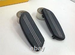 OEM Harley Black Streamliner Touring Front FloorBoards Bottoms & Inserts