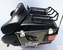 OEM Harley Davidson Black Pearl Electra Glide Touring Pack Tour Pak Pac Trunk