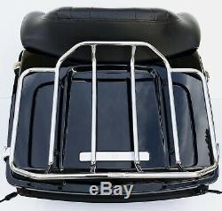 OEM Harley Davidson Vivid Black Flame Blue Pearl Touring Pak Tour Pack Trunk