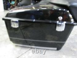 OEM Harley Tour Pak Pack Luggage Box 2009-2013 Vivid Black with Silver Pinstripes