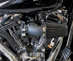 Outlaw Black Cone Air Cleaner & Filter Kit 2008-2015 Touring Flht/r/x Harley