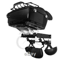 Pack Wall Mount Storage Rack For Harley Tour Pak Touring Road King Street Glide
