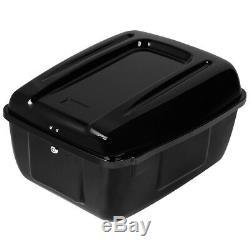 Painted Police Pack Trunk Saddlebag For Harley Tour Pak FLHP FLHTP Gloss Black