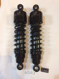 Progressive 412 Series 13 Black Rear Shocks For 06-19 Harley Touring FLHX FLTRX