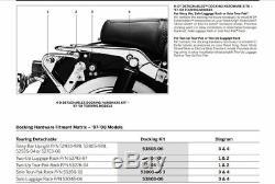 Razor Pack Trunk Backrest Rack For Harley Tour Pak Road King Street Glide 97-08