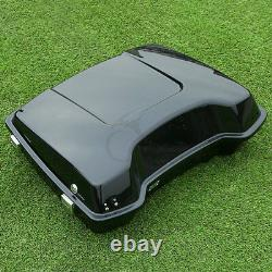 Razor Pack Trunk With Backrest For Harley Tour Pak Touring Road King Glide 97-13