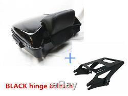 Razor Tour Pak BLACK hinge Two-Up Rack For Harley Road Street Glide 14-19 17 18