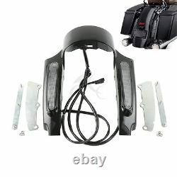 Rear Fender Fascia Set With LED Light For Harley Touring Road King Glide 09-13 US