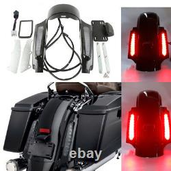 Rear Fender Fascia Set With Led light For Harley Touring Electra Glide 2009-2013