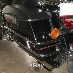 Rear Saddle Bag Guard Rail Mounts Bracket For Harley Touring Road King 1997-2008