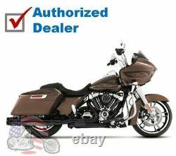 Rinehart Black Slimline True Dual Headers Pipes Exhaust 17-20 Harley Touring M8