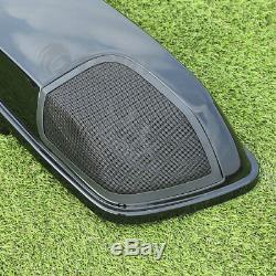 Saddlebag Lids Speaker Cutouts For Harley Touring Road King Glide 2014-2020 2018