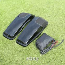 Saddlebag Saddle Bags Lids Speaker Cutouts with Grill For Harley Touring 2014-2020