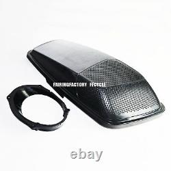 Single 6x9 Speaker Lids CVO Style W Rims For 2014up HD Harley Touring Saddlebags